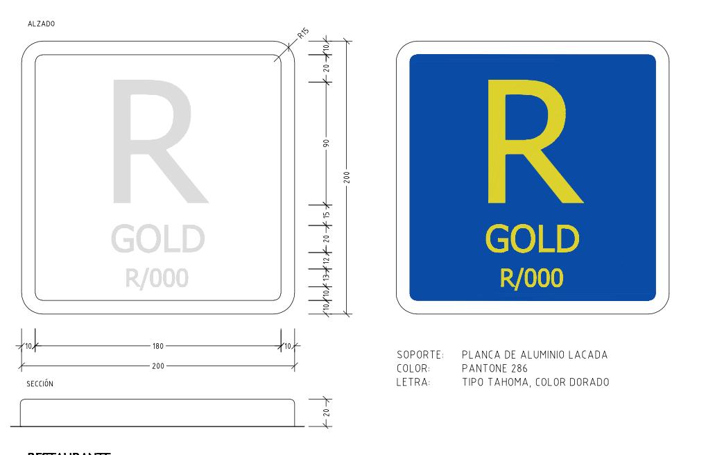 Restaurantes Categoría Gold (Decreto 20/2015 de 17 abril)