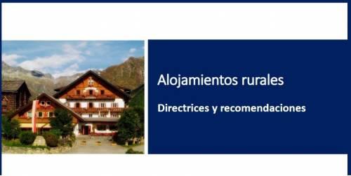 Alojamientos Rurales – Directrices y recomendaciones (SARS-CoV-2)